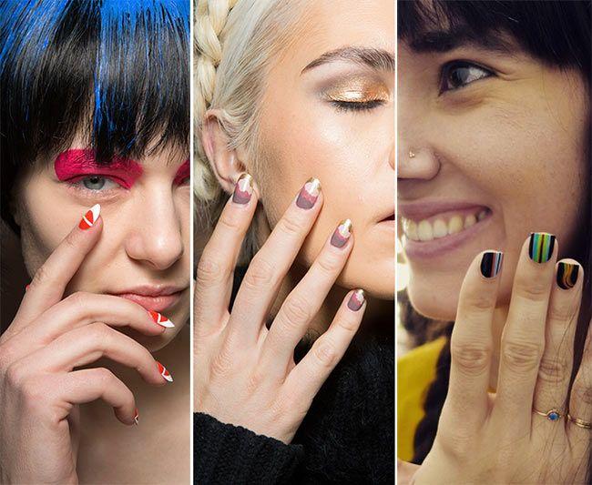 Geometria em cor – tendências de manicure para o verão de 2016